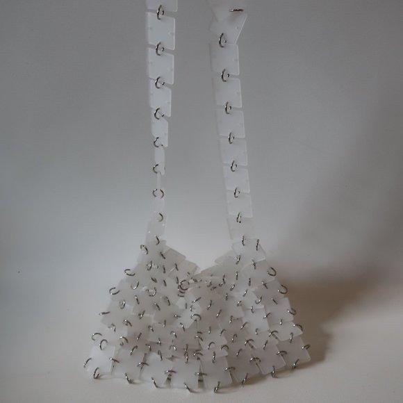 BLOOMINGDALES Handbags - BLOOMINGDALES OPAQUE PLASTIC SQUARE HANDBAG